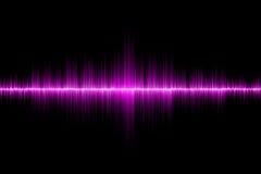 Fond rose d'onde sonore Photographie stock libre de droits