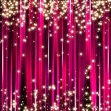 Fond rose d'étoiles d'étincelle Images libres de droits