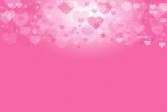 Fond rose de bonbon à valentine de coeur Photos stock