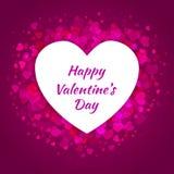 Fond rose de cadre de coeurs pour la carte de vecteur de conception de jour de valentines Photo libre de droits