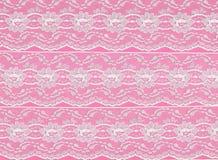 Fond rose de cadre de lacet Photographie stock libre de droits