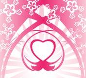 Fond rose de coeur Photographie stock