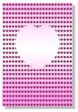 Fond rose de coeur illustration libre de droits