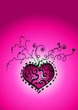 Fond rose de coeur Images stock