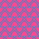 Fond rose de coeur Images libres de droits