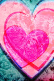 Fond rose de coeurs Images stock