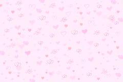 Fond rose de coeurs de Valentine Images libres de droits
