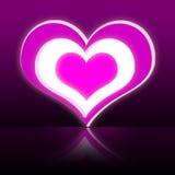 Fond rose de dessin de coeur Photo libre de droits