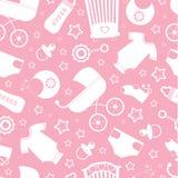 Fond rose de douche de chéri Image stock