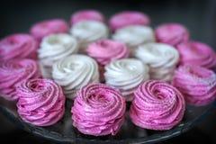 Fond rose de guimauves Photographie stock libre de droits