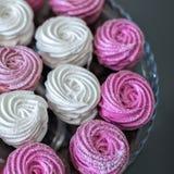 Fond rose de guimauves Images stock