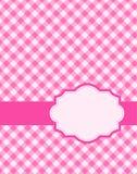 Fond rose de guingan Photographie stock libre de droits