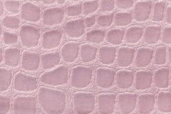 Fond rose de matériel de textile mou de tapisserie d'ameublement, plan rapproché Tissu avec le modèle Image libre de droits