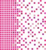Fond rose de mosaïque Photos libres de droits