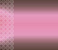 Fond rose de papier peint de Brown Image libre de droits