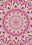Fond rose de papier peint de kaléidoscope de Brown Image libre de droits