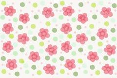 Fond rose de peinture de fleur Photo libre de droits