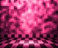 Fond rose de pièce de mosaïque d'échiquier illustration libre de droits