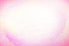 Fond rose de points de cercles Image stock