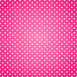 Fond rose de points de polka Images stock