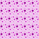 Fond rose de répétition de Dot Abstract Design Tile Pattern de polka Photo libre de droits