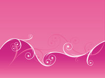 Fond rose de Swirly Photo libre de droits