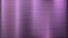 Fond rose de technologie d'abrégé sur en métal Texture polie et balayée Chrome, argent, acier, aluminium Illustration de vecteur Photo libre de droits