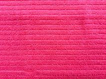 Fond rose de texture de textile de serviette Photographie stock libre de droits