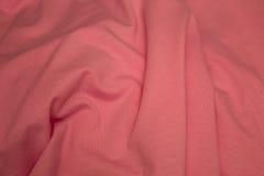 Fond rose de tissu de coton Images stock