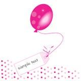 Fond rose de vecteur de ballon de message Images stock