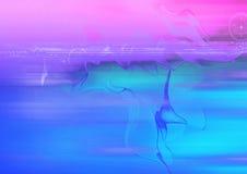 Fond rose et bleu Photo libre de droits
