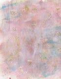 Fond rose et bleu abstrait de peinture d'aquarelle Photos libres de droits