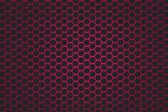 Fond rose et noir d'hexagone Image libre de droits