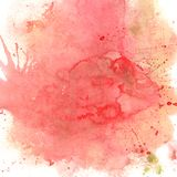 Fond rose et rouge d'aquarelle Photo libre de droits