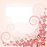 Fond rose floral illustration stock
