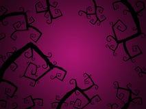 Fond rose foncé de Halloween avec le brunch d'arbre Photographie stock libre de droits
