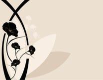 Fond rose noir de pavot Photographie stock