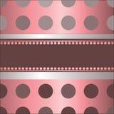 Fond rose par le point de polka Image stock