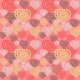 Fond rose sans couture coloré de Saint-Valentin et de mariage avec des coeurs image libre de droits