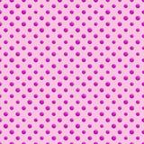 Fond rose sans couture de point de polka Photos libres de droits