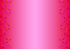 fond rose sensible avec des coeurs aux nuances du rouge Image stock