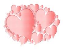 Fond rose texturisé clair de coeurs Image stock