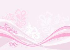 Fond rose, vecteur Images stock