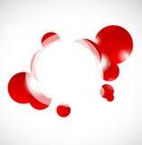 Fond rouge abstrait avec des cercles Photos libres de droits