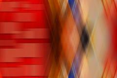 Fond rouge abstrait avec les rayures chaotiques sur le mouvement Images stock