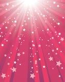 Fond rouge abstrait d'étoile Photographie stock libre de droits