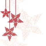 Fond rouge abstrait d'étoile de Noël Photographie stock libre de droits