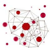 Fond rouge abstrait de boules Images stock