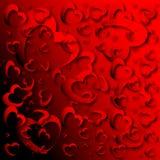 Fond rouge abstrait de coeur Image libre de droits