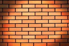Fond rouge abstrait de mur de briques Photographie stock